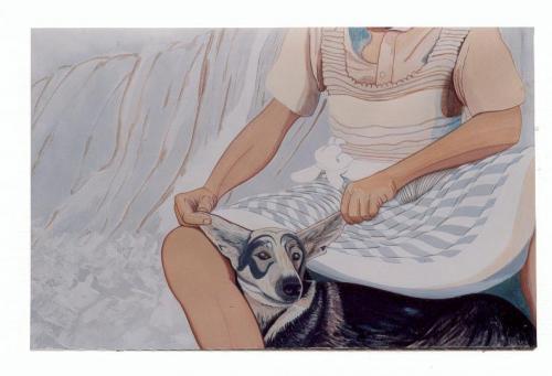 noa-acryl-BOB_and_HIS_DOG_MALOUK