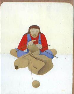 noa-acryl-Knitting_Buddha