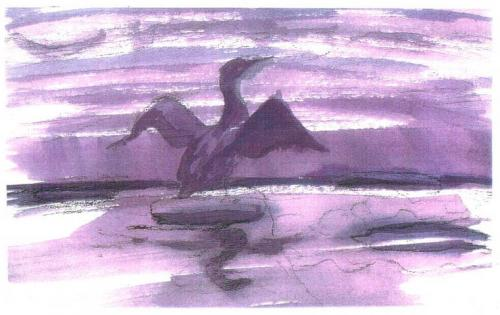 15_Affiche_De_Aalscholver_The_cormorant_Purple
