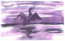 15_Affiche_De_Aalscholver_The_cormorant_Purple