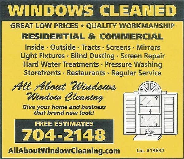 all about windows window cleaning