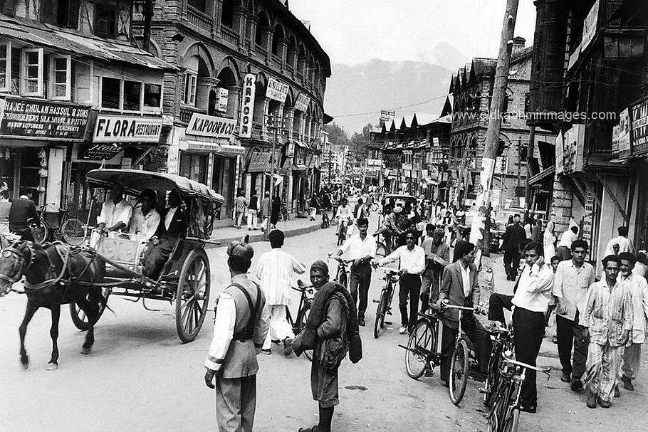 Srinagar Lal chowk 1960s