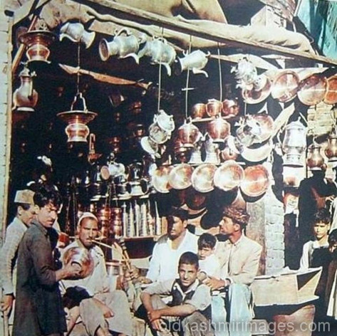 Shop selling utensils Srinagar Kashmir.j