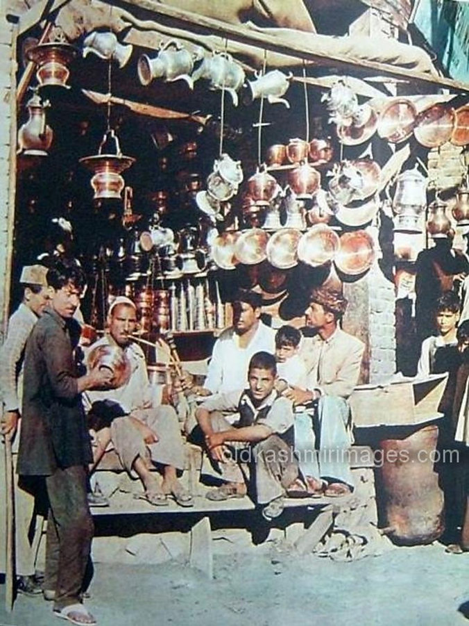 Shop selling utensils Srinagar Kashmir