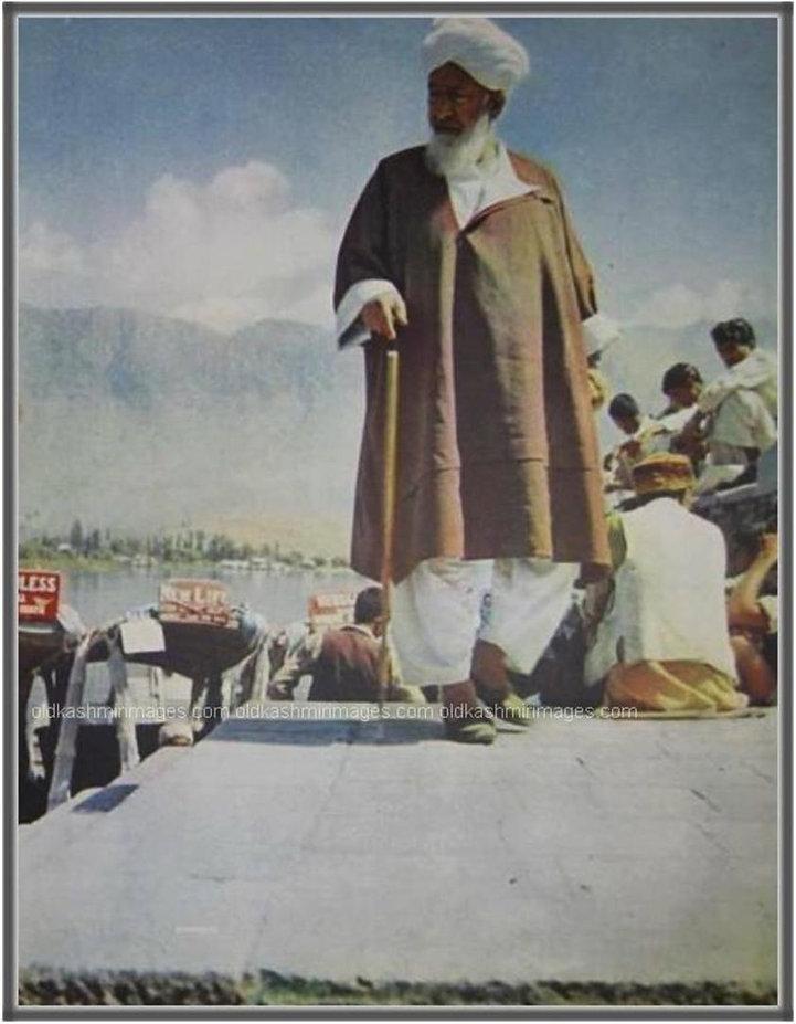 Kashmiri man in traditional attire 1960.