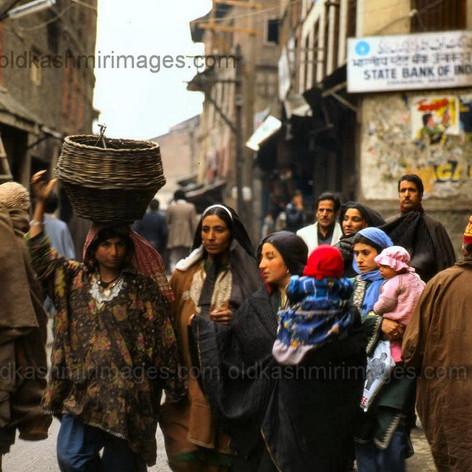 Srinagar Street Scene 1981