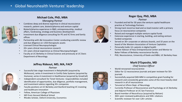 Global Neurohealth Venture Leadership