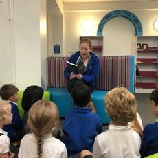 Woodlands Primary School, Tonbridge - In the Library.JPG
