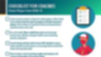 COVID-19 coaches checklist