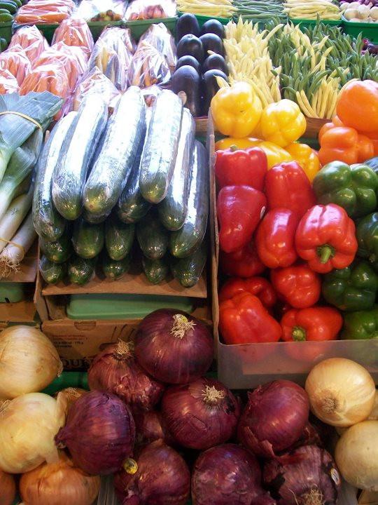Fresh veggies from Atwater market
