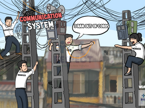Communication as Spaghetti wiring poles