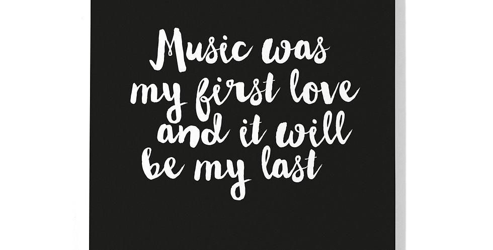 "Notizbuch ""Music"""