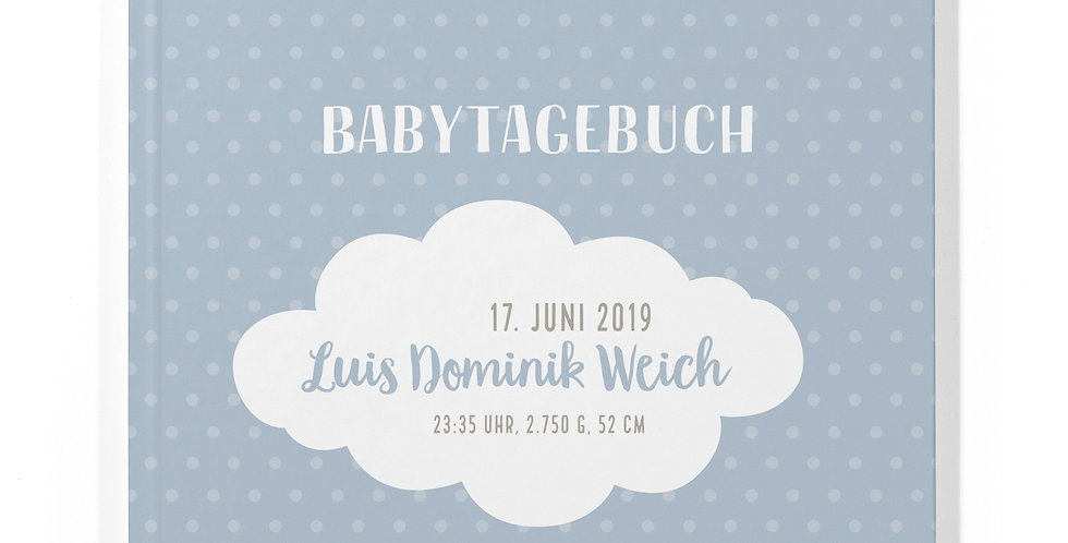 """Babytagebuch """"Wolke Blau"""""""