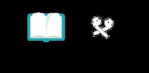 """En öppen bok med texten: """"20376 lästa sidor"""" och en bild på ett par hörlurar och texten: """"316,5 lyssnade timmar""""."""