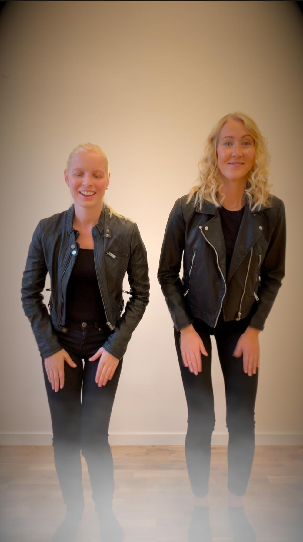 Två personer utklädda till två karaktärer från filmen Grease