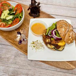 "Vegan Creole ""Chicken"" Sandwich delight"