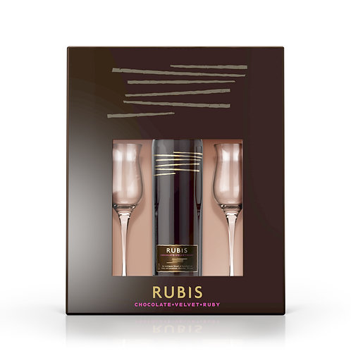 Rubis Chocolate Wine Gift Box (+ 2 premium wine glasses) 50cl 15% ABV