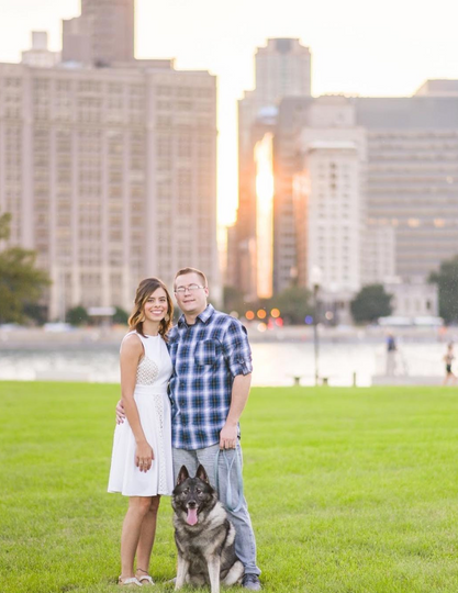 Puppy and Couple Photo