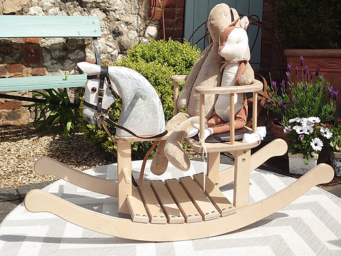 Grey Dappled Rocking Horse Chair