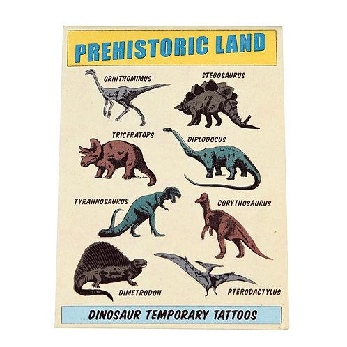 PREHISTORIC LAND TEMPORARY TATTOOS