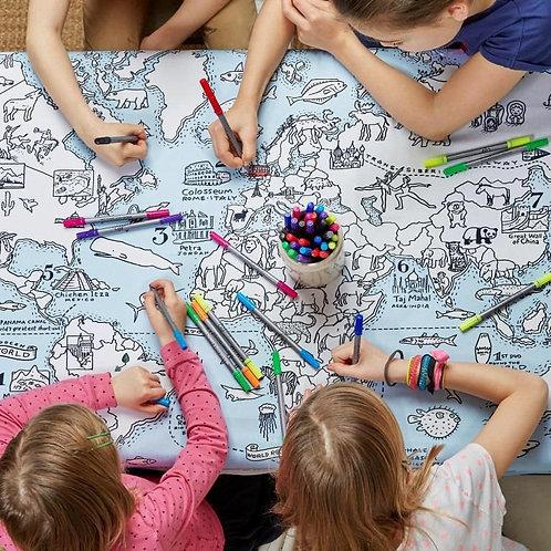 World Map talecloth