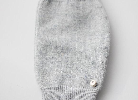 Grey Cashmere & Merino Blend Gloves