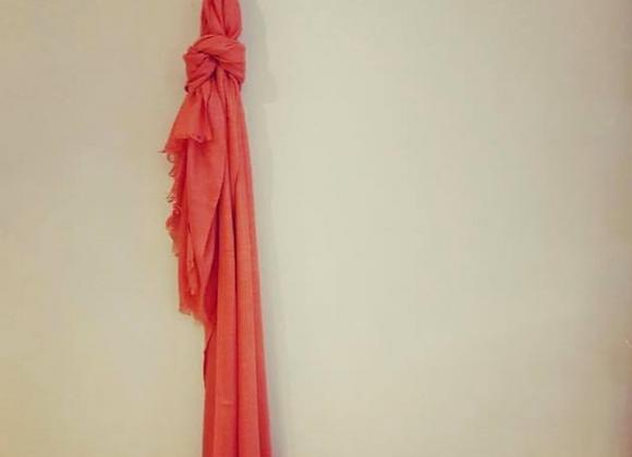 Tangerine Linen Scarf