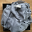 Thumbnail: Grey Silk Linen Blend Scarf