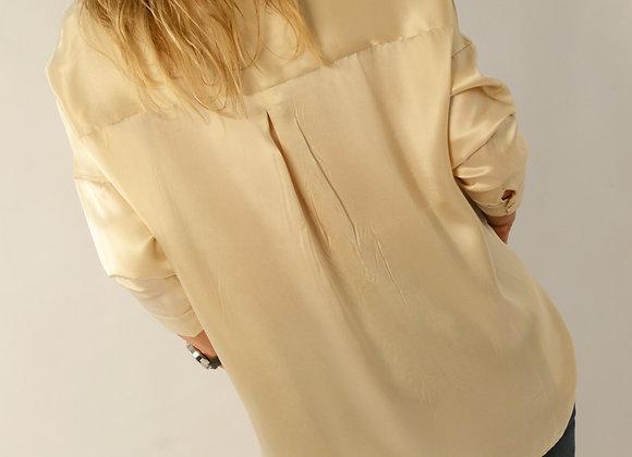 Champagne Silk Shirt