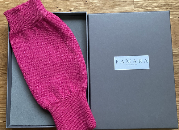 Pink Cashmere & Merino Wool Blend Fingerless Gloves