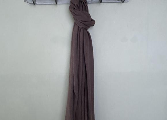Chocolate Silk Linen Blend Scarf