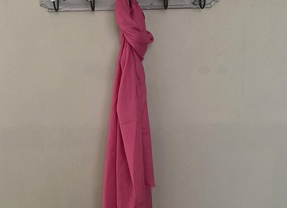 Pink Silk Linen Blend Scarf