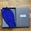 Thumbnail: Blue Cashmere & Merino Wool Blend Fingerless Gloves