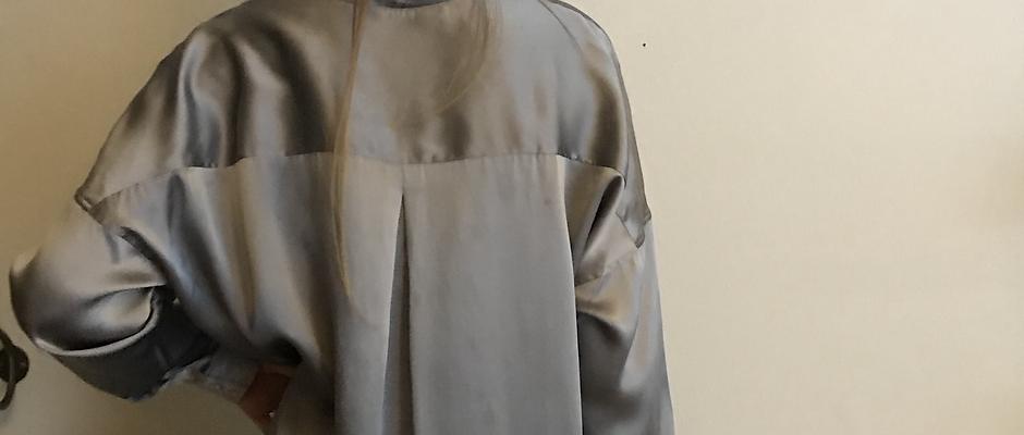 Pewter Silk Shirt
