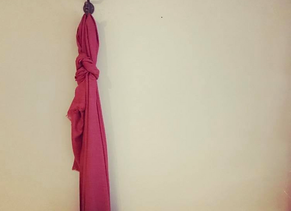 Pomegranate Silk Linen Scarf