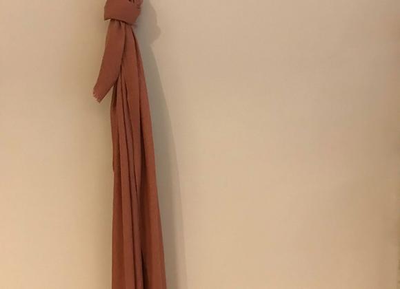 Cinnamon Silk Linen Scarf