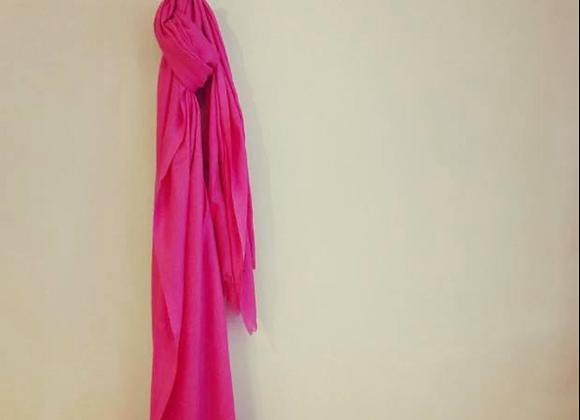 Pink Linen Scarf