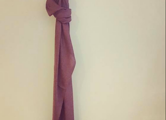Chocolate Silk Linen Scarf