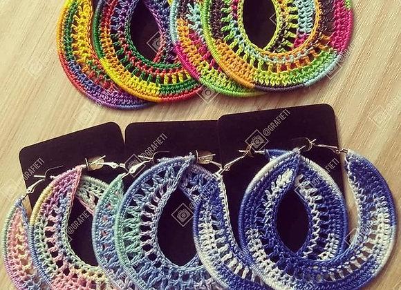 """3"""" Multicolor Crochet Earrings"""