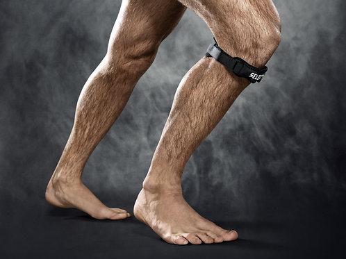Elastiskt knäledsbandage med hål för knäskålen