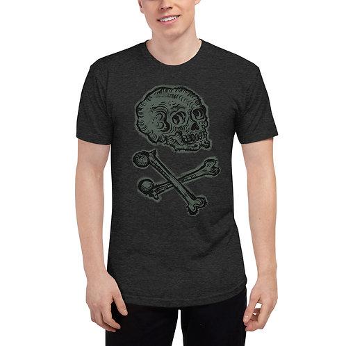 Skull & Crossbones - Unisex Tri-Blend Track Shirt