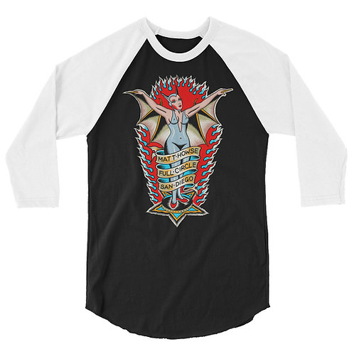 """Bat Lady"" 3/4 sleeve raglan shirt"
