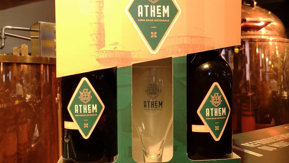 Athem Coffret 2x75cl + verre