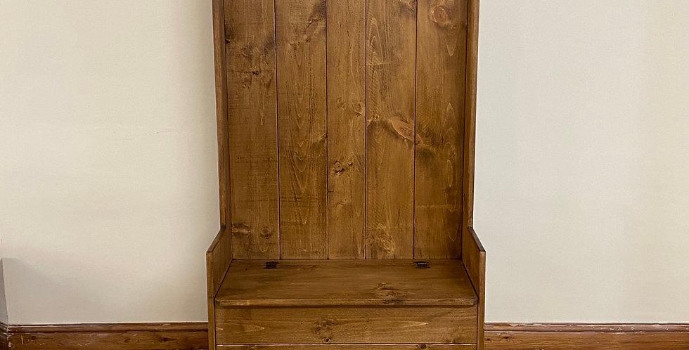 Plank Coat Rack and Storage Bench