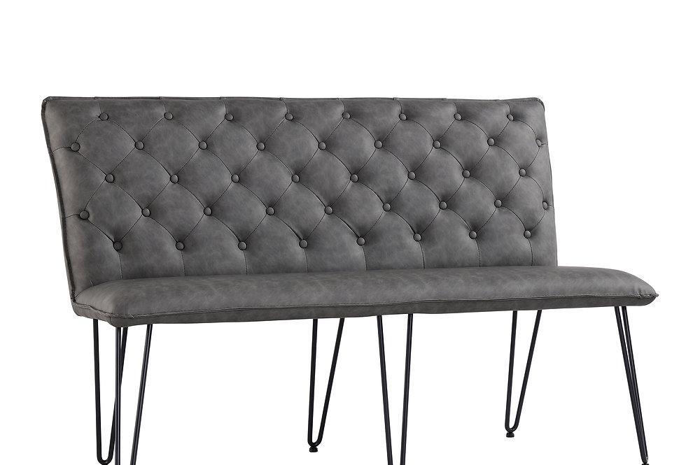 1.4 Studded Back Bench - Grey