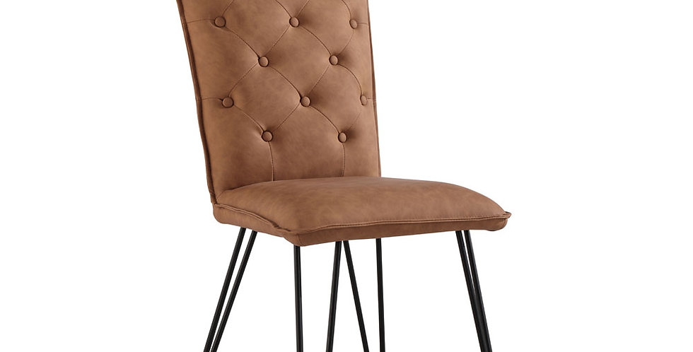 New-Oak Studded Chair
