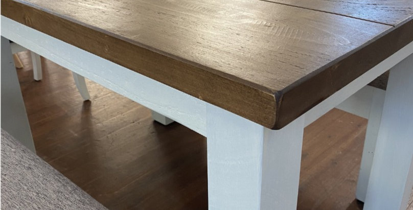 Plank Table & 2x Benches