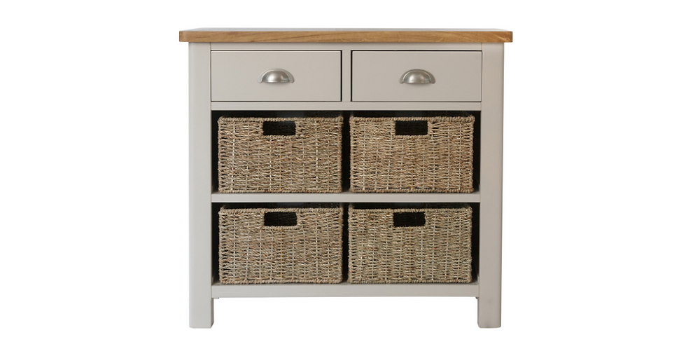 Rae Painted 2 Drawer/4 Basket Unit