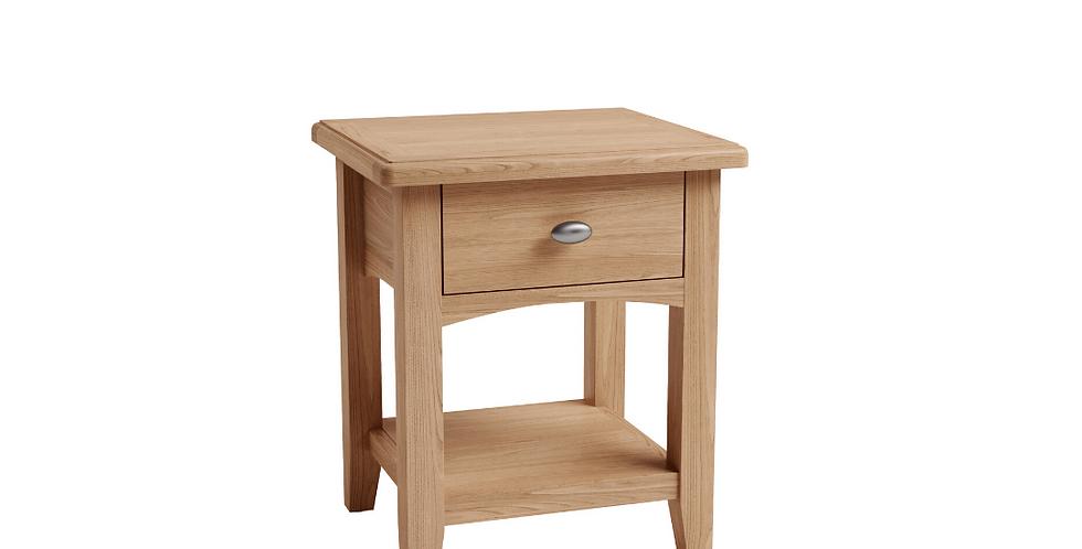 Geo Oak Lamp Table
