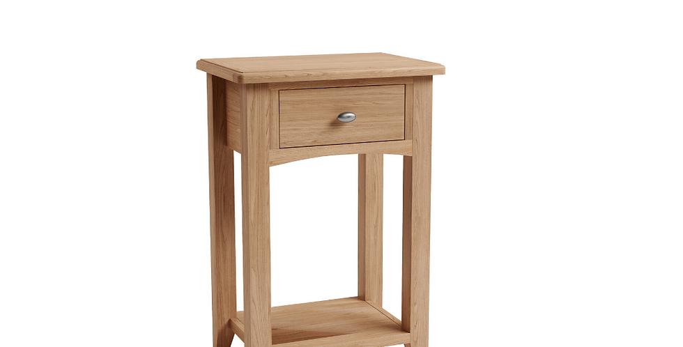 Geo Oak Telephone Table